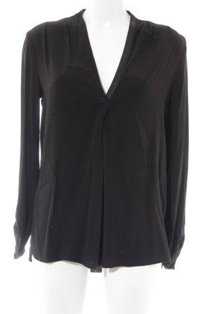 Promod Langarm-Bluse schwarz Casual-Look