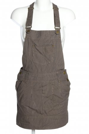 Promod Pinafore Overall Skirt brown striped pattern casual look
