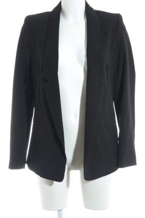 Promod Leder-Blazer schwarz Business-Look