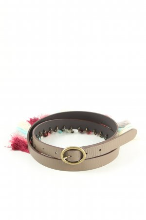 Promod Leather Belt brown-pink casual look