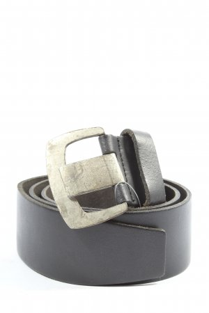 Promod Cinturón de cuero azul look casual