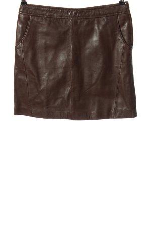 Promod Jupe en cuir brun style décontracté