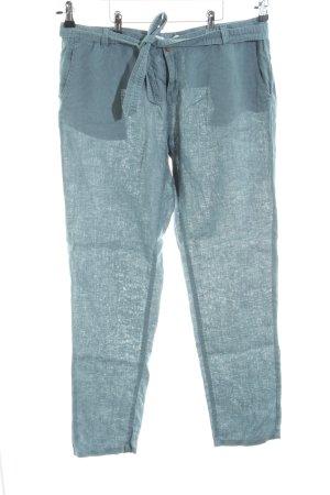 Promod Pantalone di lino turchese stile casual
