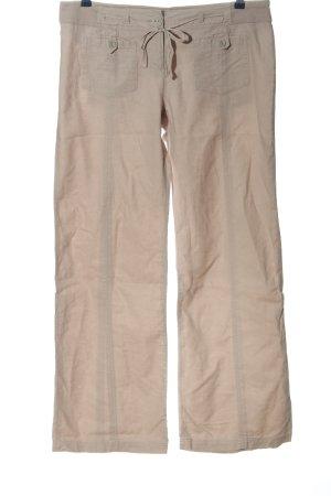 Promod Lniane spodnie nude W stylu casual