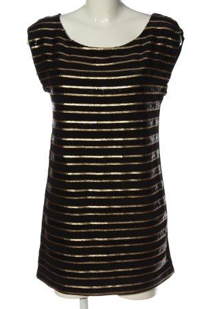 Promod Long-Bluse schwarz-goldfarben Casual-Look