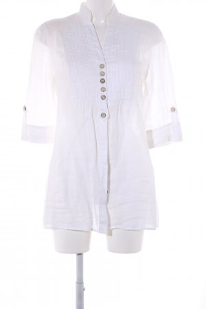 Promod Long-Bluse weiß Business-Look