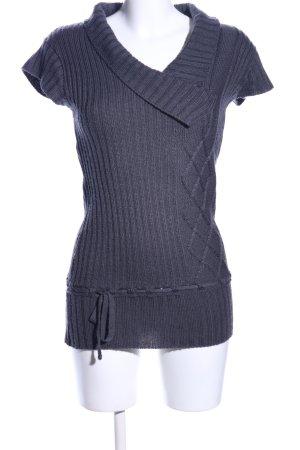 Promod Długi sweter jasnoszary Warkoczowy wzór W stylu casual