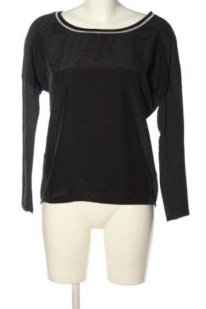 Promod Longsleeve schwarz-silberfarben Casual-Look