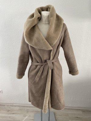 Promod Cappotto in eco pelliccia multicolore