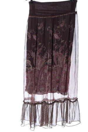 Promod Spódnica maxi różowy-fiolet Wzór w kwiaty W stylu casual