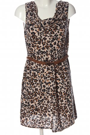 Promod Robe mi-longue motif léopard style décontracté