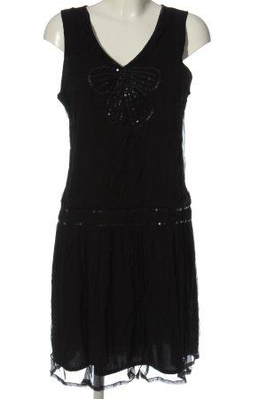 Promod Szyfonowa sukienka czarny Elegancki