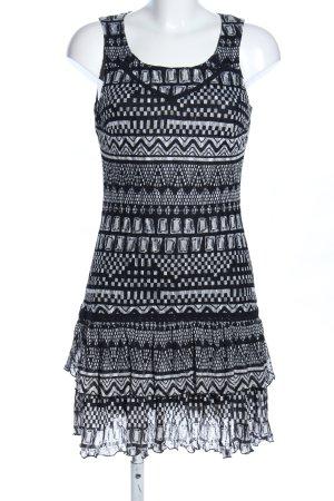 Promod Minikleid schwarz-weiß grafisches Muster Business-Look