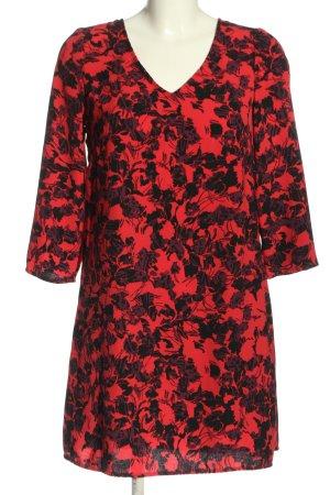 Promod Minikleid rot-schwarz abstraktes Muster Casual-Look