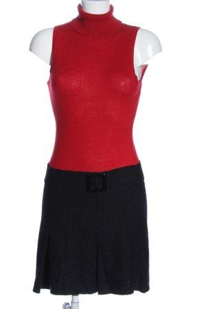 Promod Minikleid rot-schwarz Casual-Look