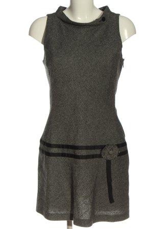 Promod Minikleid schwarz-creme Allover-Druck Casual-Look