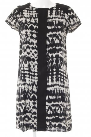 Promod Minikleid wollweiß-schwarz abstraktes Muster Casual-Look