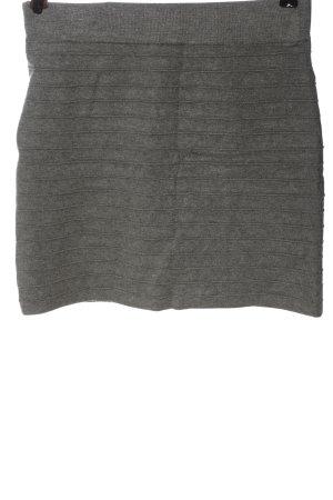 Promod Mini-jupe gris clair moucheté style décontracté