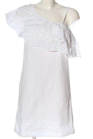 Promod One-Shoulder-Kleid weiß Casual-Look