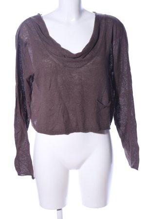 Promod Oversized Pullover braun Casual-Look