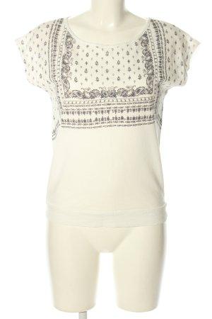 Promod Oversized Shirt wollweiß-schwarz Mustermix Casual-Look