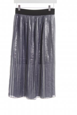 Promod Pleated Skirt silver-colored-black elegant