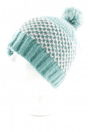 Promod Bobble Hat turquoise-natural white