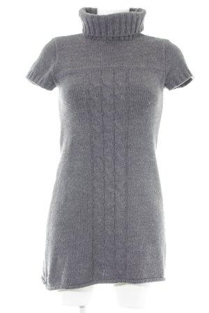Promod Pulloverkleid grau Zopfmuster Casual-Look