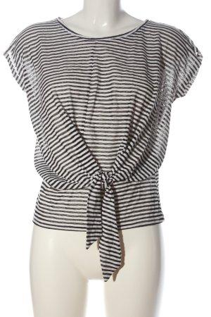 Promod Camisa de rayas blanco-negro estampado a rayas look casual
