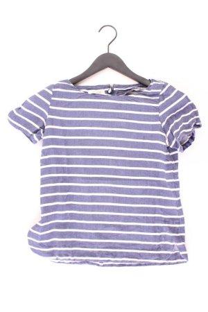 Promod T-shirt rayé bleu-bleu fluo-bleu foncé-bleu azur coton
