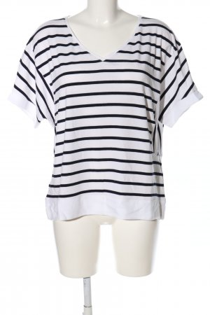Promod Ringelshirt weiß-schwarz Streifenmuster Casual-Look