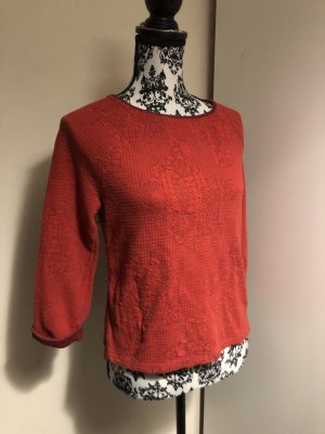 Promod Rundhals Winter Pullover Rot Small 36