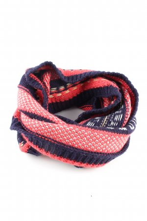 Promod Snood blue-red striped pattern casual look