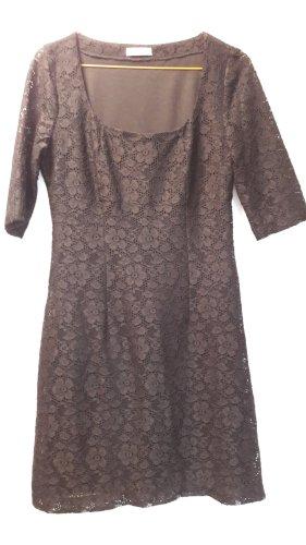 Promod schickes schwarzes Spitzenkleid Kleid Spitze klassisch festlich Gr. 34