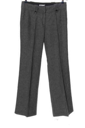 Promod Pantalon pattes d'éléphant noir-blanc motif abstrait