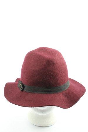 Promod Sombrero de fieltro rojo look casual