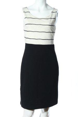 Promod Tube Dress black-natural white striped pattern business style