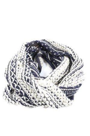 Promod Écharpe tube noir-blanc imprimé allover style décontracté