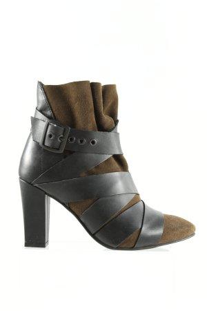 Promod Slip-on Booties black-brown casual look
