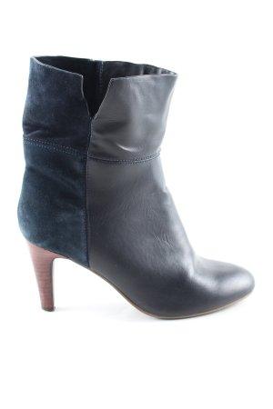 Promod Schlüpf-Stiefeletten schwarz-blau Business-Look