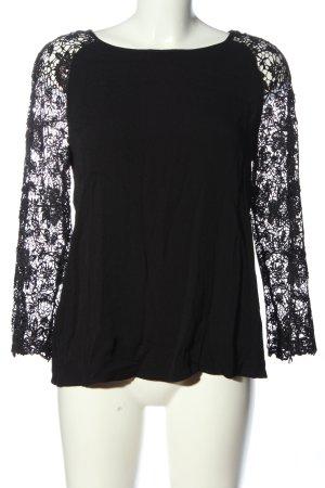 Promod Schlupf-Bluse schwarz Casual-Look
