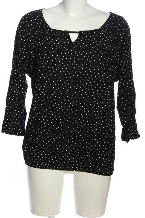 Promod Schlupf-Bluse schwarz-weiß Punktemuster Casual-Look