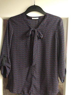 Promod Schluppenbluse Bluse mit Schleife gemustert Gr. 34