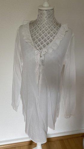 Promod Blusa con lazo blanco