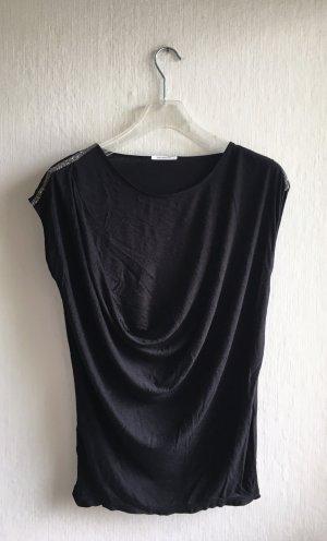 Promod Koszulka z dekoltem woda czarny
