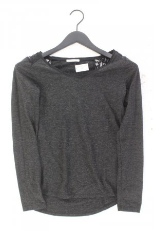 Promod Shirt mit Spitze Größe XS Langarm grau