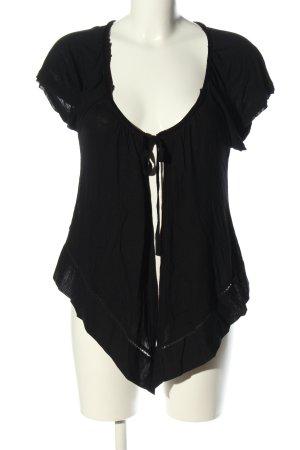 Promod Chaqueta estilo camisa negro look casual