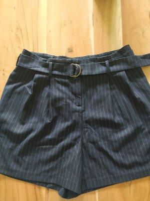 Promod Pantaloncino a vita alta grigio chiaro-blu scuro
