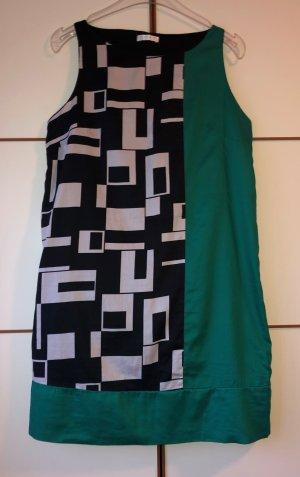 Promod Sommer Kleid 40 Baumwolle schwarz-weiß-grün Neu