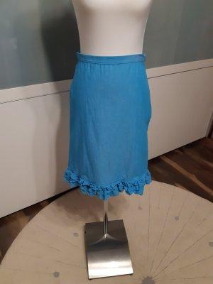 Promod Linen Skirt turquoise